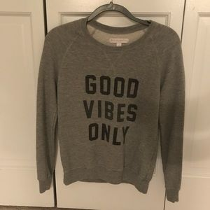 """GOOD VIBES ONLY"" graphic long-sleeve"